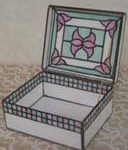 ステンドグラス蝶番を使った箱