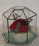 ステンドグラステラリューム記念の花を入れる