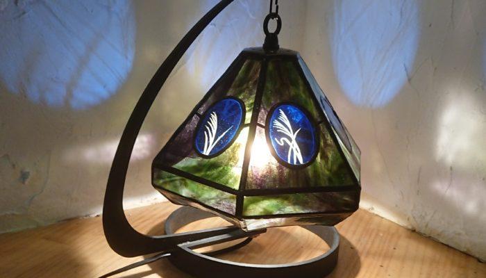 ステンドグラス和風ランプ