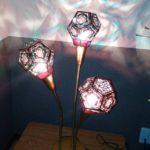 ステンドグラスランプ3灯のタツチセンサー