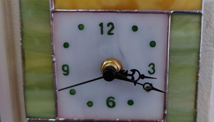 ステンドグラスキット小さな時計