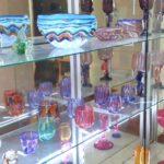 吹きガラス作品展示