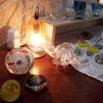 吹きガラス作品ランプ・置物