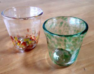 夫婦でペアグラス制作
