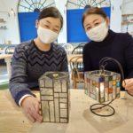 愛知県名古屋市メイカーズピア内ステンドグラス体験風景